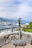 Binoculare a gettoni al punto di vista nel Monaco, Francia Immagine Stock Libera da Diritti