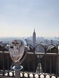 BInoculares em Manhattan Fotos de Stock