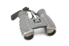 Binoculars. Black Sportmans Binoculars on a white background Royalty Free Stock Photo