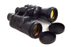 Binoculars. A set of binoculars with coated lens, shot on a white background Stock Photos