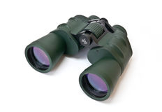 Binoculars. Army binoculars isolated on a white background Stock Photos