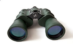 Binoculars. Army binoculars isolated on a white background Royalty Free Stock Image