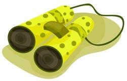 Binoculars. Illustration of isolated binoculars on white background Royalty Free Stock Image