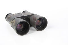 Binoculars. A binoculars and lens color isolated on white Stock Image