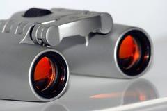 Binoculars. Opera glasses, silver binoculars with red glass Stock Images