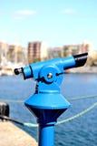 Binoculars. Blue binocular city of Barcelona - Spain Stock Photos