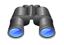 Binoculars. Pair of binoculars. Full editable vector graphic Stock Images