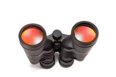 Binoculars. Black binoculars, isolated on white background Royalty Free Stock Photos
