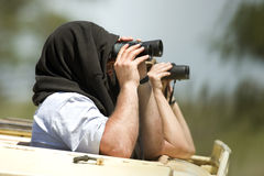 Binoculars. In a travel in Africa Stock Photo