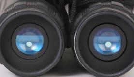 Binoculars. A pair of blue lensed binoculars stock photos