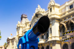 The Binoculars in Barcelona. Spain royalty free stock images