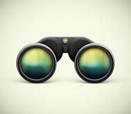Binoculars. Black binoculars, eps 10 Royalty Free Stock Photos