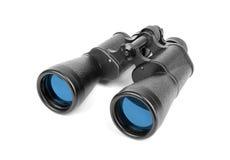 Binoculars. Black binoculars isolated on white Royalty Free Stock Images