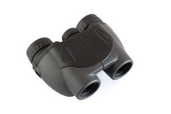 Binoculars. Black binoculars isolated on a white background Stock Photos