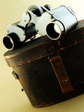 Binoculars and Case Stock Photo