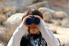 Binoculars, Child, Magnification Stock Image