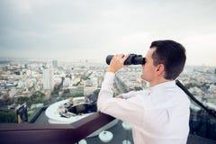 Through the binoculars royalty free stock photo