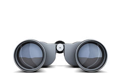 Binoculars closeup isolated on white background. 3d rendering.  Stock Photos
