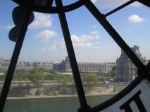 binoculars coin de fayette法国画廊高la运行在视图的巴黎 免版税库存照片
