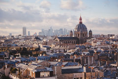 binoculars coin de fayette Γαλλία το υψηλό Λα στοών λειτούργησε πέρα από το Παρίσι επάνω στην όψη Στοκ Φωτογραφίες