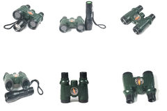Binoculars with compass Stock Images