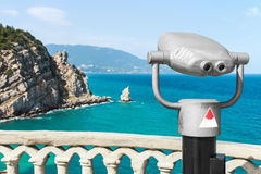 Binoculars for exploring the seaside Royalty Free Stock Photography