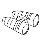 Binoculars figure military equipment icon image Stock Photos