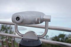 Binoculars fixed on the mountain Stock Photos
