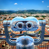 Binoculars in Florence Royalty Free Stock Photography