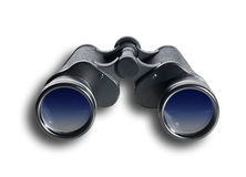 Binoculars front, isolated Royalty Free Stock Images