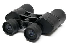 Binoculars Front - Top Side View w/ Path Royalty Free Stock Image
