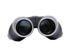 Binoculars, front view. Binoculars, front view, isolated on white royalty free stock image