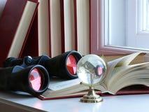 Binoculars and Globe Stock Photos