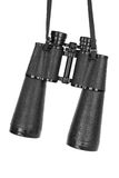 Binoculars hanging on a belt Royalty Free Stock Photography