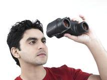binoculars his man Стоковые Фотографии RF