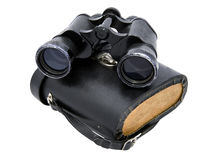 Binoculars horizontal and box. Binoculars  horizontal and box with white background Stock Photos