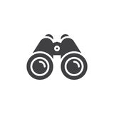 Binoculars icon vector, filled flat sign. Solid pictogram isolated on white. Spy symbol, logo illustration. Pixel perfect vector graphics Stock Photos