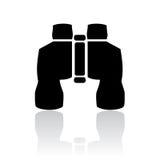 Binoculars icon. Binoculars vector icon on white background Royalty Free Stock Photos