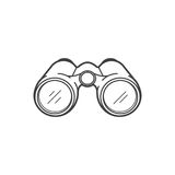 Binoculars icon on white background Stock Photos
