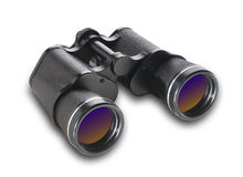 Binoculars, isolated Royalty Free Stock Photos