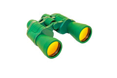 Binoculars isolated Stock Photography
