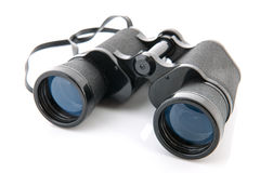 Binoculars isolated over white Royalty Free Stock Image