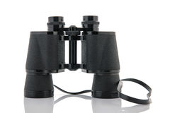 Binoculars isolated over white Royalty Free Stock Photography