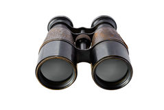 binoculars isolated vintage Arkivfoton