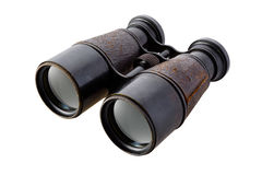 binoculars isolated vintage Royaltyfria Foton