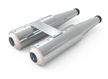 Binoculars isolated on white Stock Image