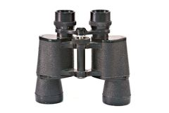 Binoculars isolated on white royalty free stock images