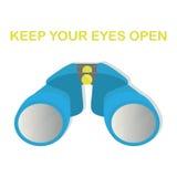 Binoculars, keep your eyes open. Royalty Free Stock Photos