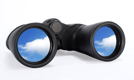 Binoculars Looking at the sky Future vision Royalty Free Stock Photography