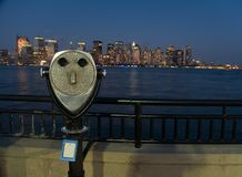 Binoculars and nyc Royalty Free Stock Photography